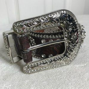 🦄blazin roxx rhinestone belt size L